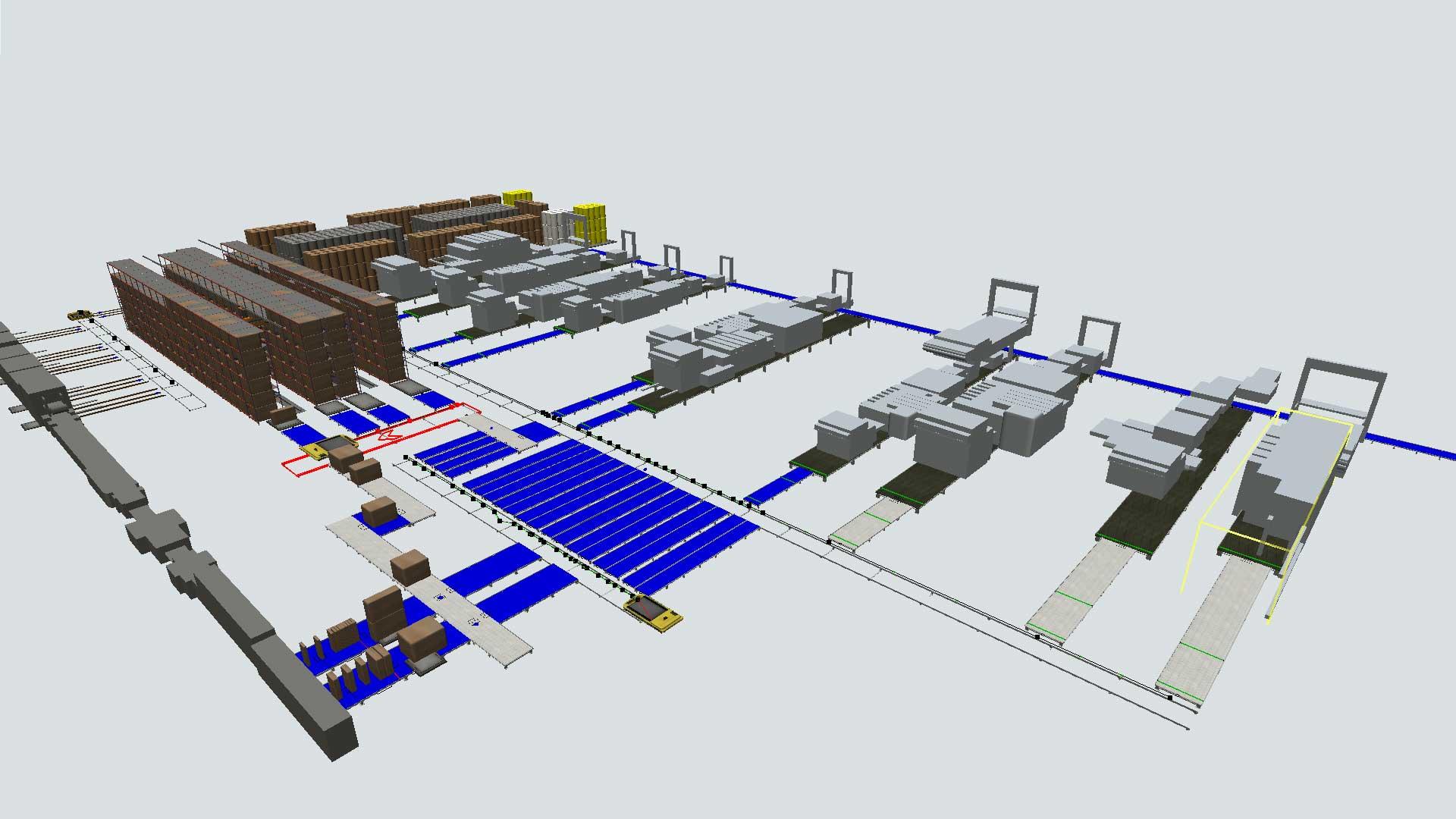 Gemelo digital fabrica cartón ondulado